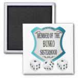 Member of the Bunko Sisterhood Square Magnet