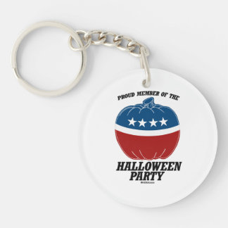 Member of the Halloween Double-Sided Round Acrylic Key Ring
