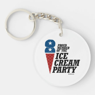 Member of the Ice Cream Party Double-Sided Round Acrylic Key Ring