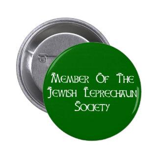 Member Of The Jewish Leprechaun Society 6 Cm Round Badge