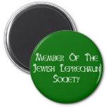 Member Of The Jewish Leprechaun Society 6 Cm Round Magnet