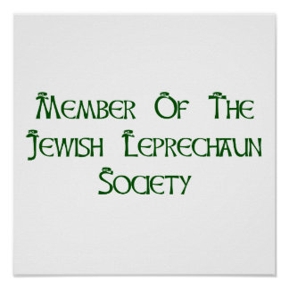 Member Of The Jewish Leprechaun Society Poster