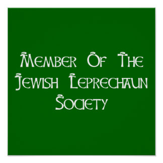 Member Of The Jewish Leprechaun Society Posters