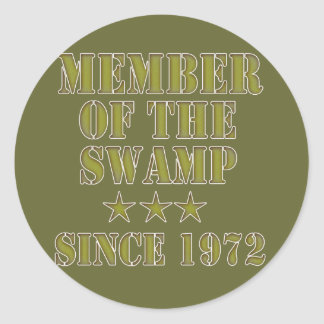 Member of the Swamp Round Sticker