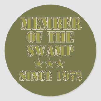 Member of the Swamp Round Stickers