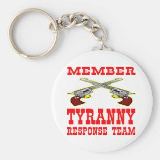 Member Tyranny Response Team Basic Round Button Key Ring