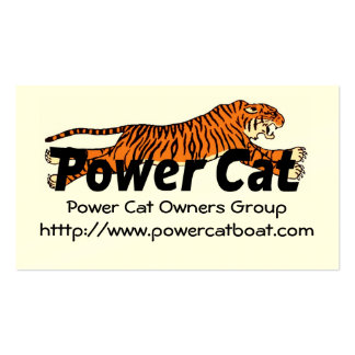 Members Card Power Cat Owners Group Pack Of Standard Business Cards