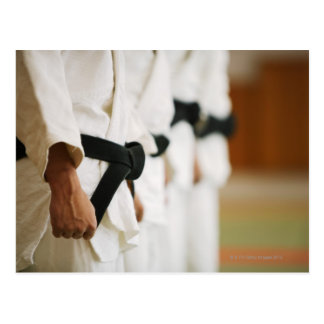 Members of a Judo Dojo Lined Up Postcard
