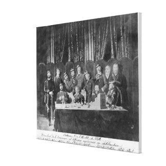 Members of the Commune at the Hotel de Ville Canvas Print