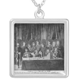 Members of the Commune at the Hotel de Ville Silver Plated Necklace