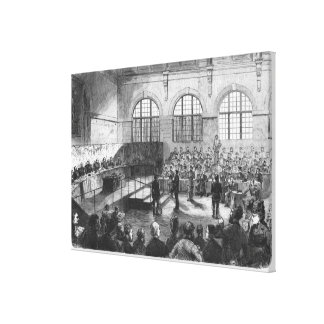 Members of the Commune being court martialled Canvas Print