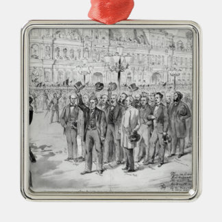Members of the provisional government Silver-Colored square decoration
