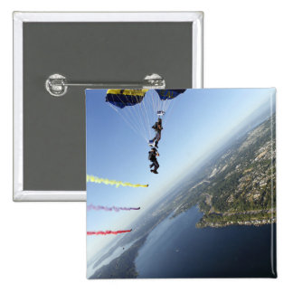 Members of the US Navy Parachute Team 15 Cm Square Badge