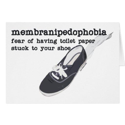 Membranipedophobia Greeting Card