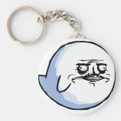 Meme Basic Round Button Key Ring