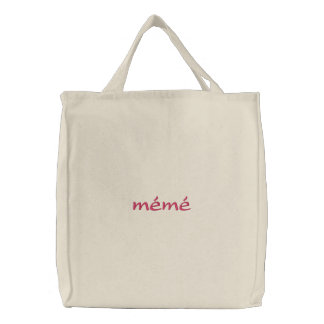 mémé Custom Embroidered Tote Bag
