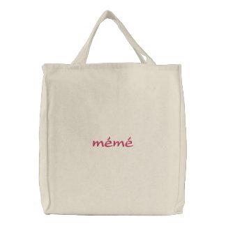 mémé Custom Embroidered Tote Bag