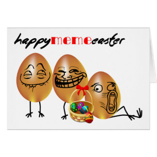 Meme eggs Happy Easter Greeting Card