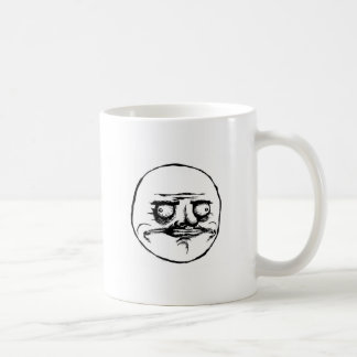 Meme Face Basic White Mug