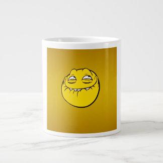 Meme Face Smiley Emoticon Yelow Funny Head Troll 20 Oz Large Ceramic Coffee Mug