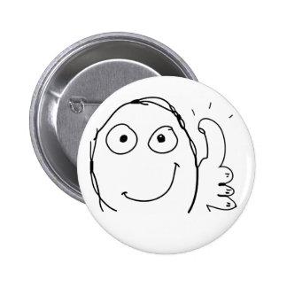 Meme happy thumbs up 6 cm round badge
