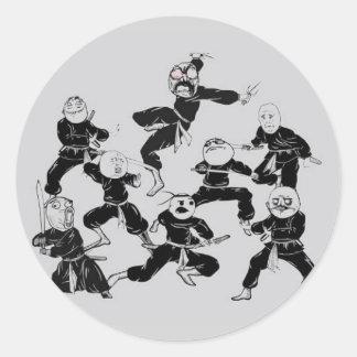 meme ninja gang round sticker