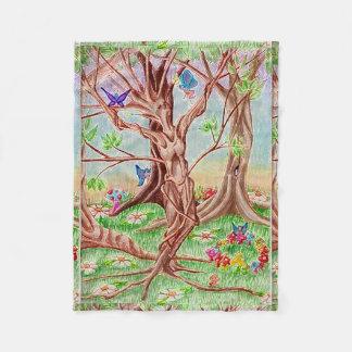Memento Amare Tree Lady Fleece Blanket