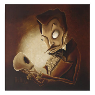 Memento Mori (Contemplating Death) Acrylic Art