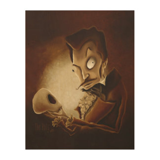 Memento Mori (Contemplating Death) Wood Wall Decor