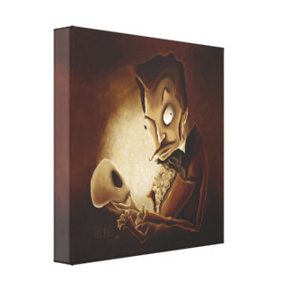 Memento Mori (Contemplating Death) Wrapped Canvas