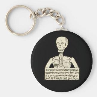 Memento Mori Basic Round Button Key Ring