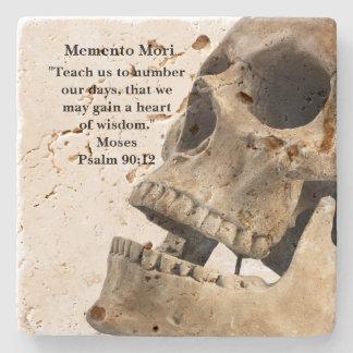 Memento Mori Skull Stone Beverage Coaster