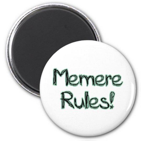 Memere Rules! 6 Cm Round Magnet
