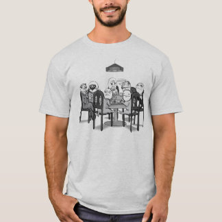 Memes Poker Table with Me Gusta Ok face etc T-Shirt
