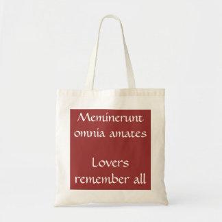 Meminerunt omnia amates canvas bags