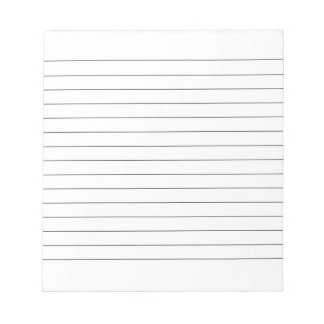 Memo Pad with Lines Business Lined Black Classic
