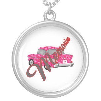 Memorabilia Retro  automobile Round Pendant Necklace
