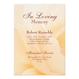 Memorial Invitations & Announcements | Zazzle.co.uk