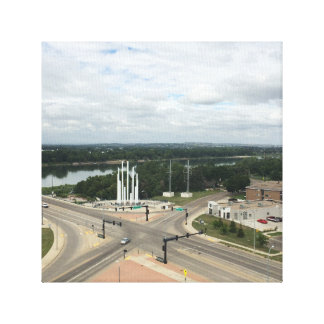 Memorial bridge intersection canvas print