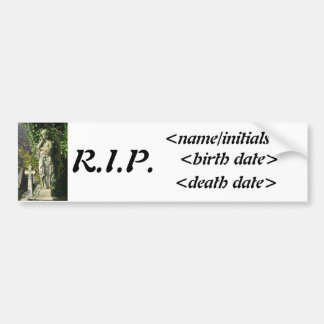 Memorial Bumper Sticker