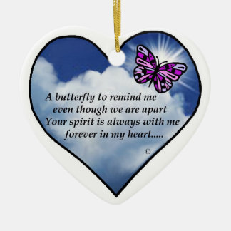 Memorial Butterfly Poem Christmas Ornament