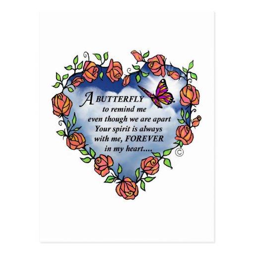 Memorial Butterfly Poem Postcards
