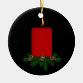 Memorial Candle Christmas Ornament
