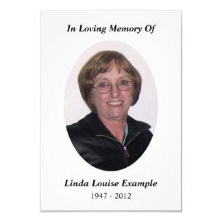 memorial card 9 cm x 13 cm invitation card
