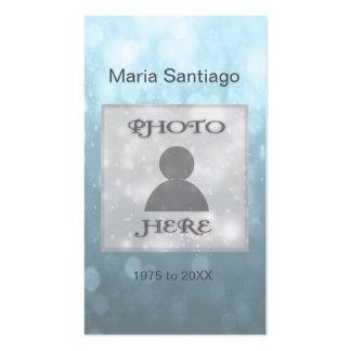 Memorial Card | Blue Bokeh Lights Pack Of Standard Business Cards