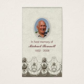 Memorial Card Floral design beige