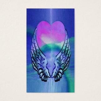 Memorial Card | Heart and Angel Wings