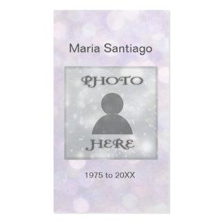 Memorial Card | Pink Bokeh Lights Pack Of Standard Business Cards