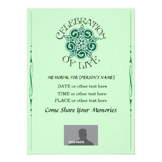Memorial Celebration of Life - Celtic Knot design Invites