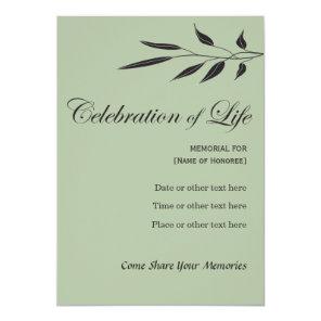 Memorial Celebration of Life Elegant Tree Invitati Invitation